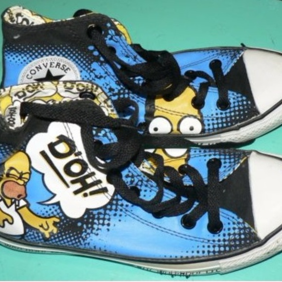 Rare Homer Simpson Chucks Converse M 5W 7 Sneaker